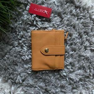 NWT Rosetti women's bifold wallet (FEY) mustard